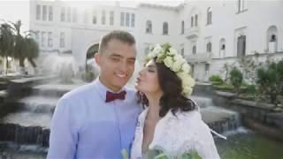 Свадебная церемония и прогулка молодоженов Рината и Элины в Сухуме