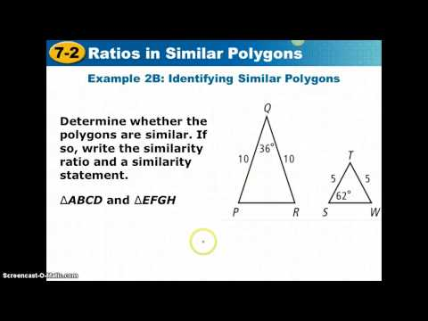 7_2 Ratios In Similar Polygons Video Notes