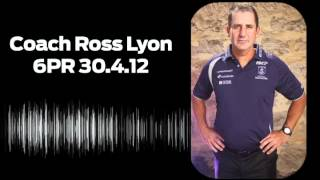 Ross Lyon on 6PR 30.4.12