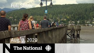 Canadians cram into parks for long weekend - CBC News: The National | August 3, 2020