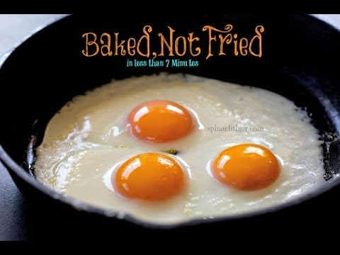 How To Fry Eggs In The Oven Sunny Side Up Baked Eggs