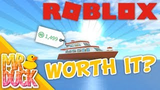 Robloxian Highschool - LUXURY YACHT WORTH IT? - Review