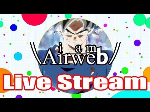 Airweb - Agar.io Gameplay [LIVE STREAM 24/7] [PC & MOBILE]