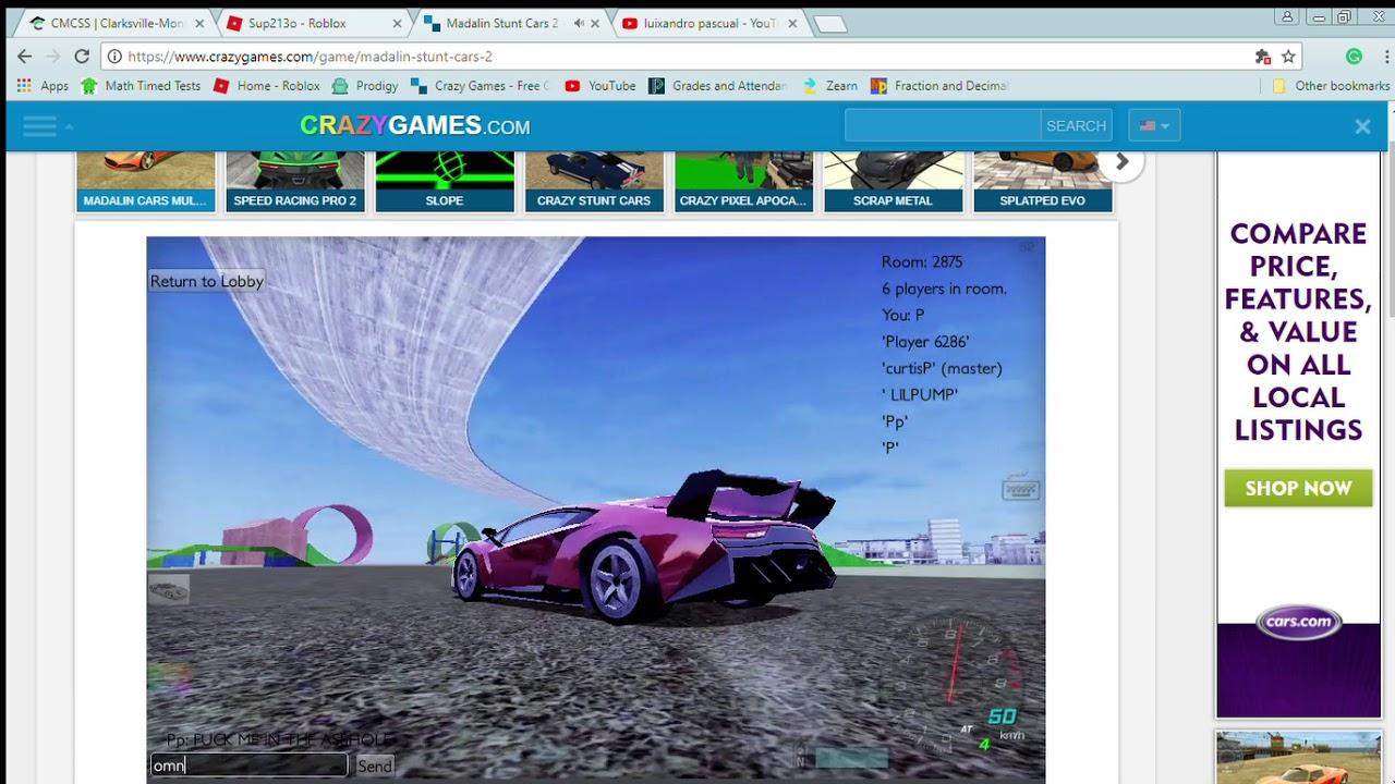 Madalin Stunt Cars 2 Play Madalin Stunt Cars 2 On Crazy Games Google Chrome 3 7 2018 12 21 46 Pm Youtube