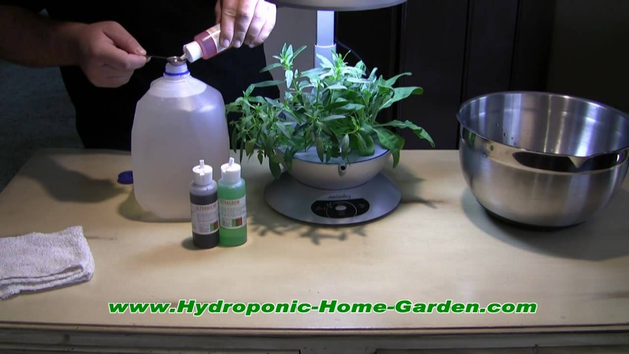 How To Use Liquid Nutrients In The Aerogarden Youtube