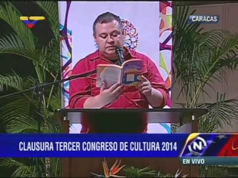 Ministro Reinaldo Iturriza en III Congreso Nacional de la Cultura