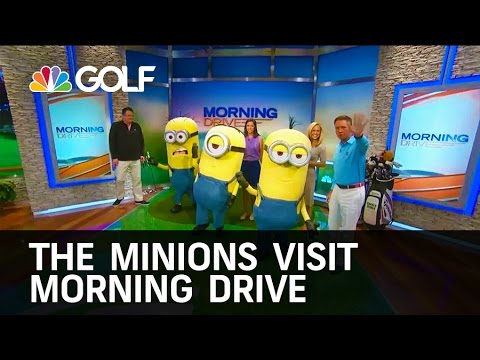 The Minions Visit Morning Drive!   Golf Channel