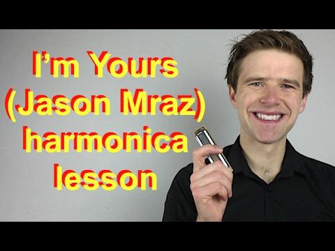I'm Yours (Jason Mraz) easy C harmonica lesson with tab - 2000s week!