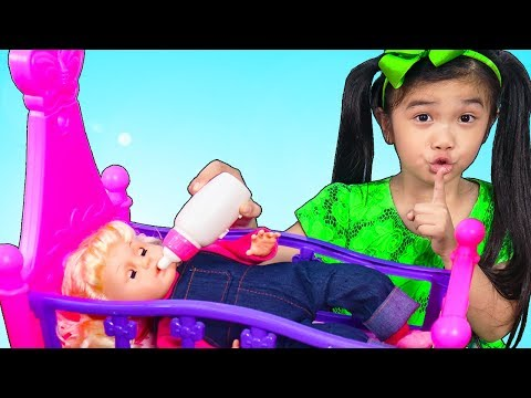 Hana Pretend Play Cooking Baby Food for Sleepy Baby Doll Toy