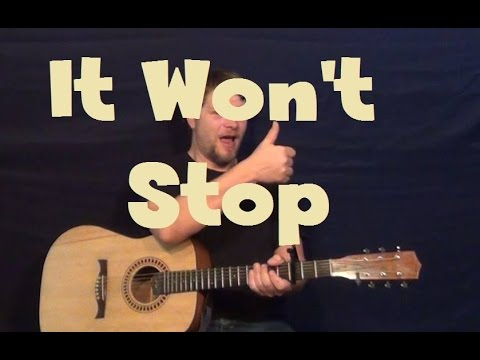 It Won't Stop (Sevyn Streeter) Easy Strum Guitar Lesson How To Play Tutorial
