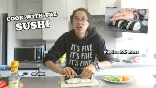 i tried to make sushi - cook with taz | clickfortaz