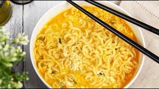 Рецепт корейского РАМЁНА   Как приготовить Рамен дома (Корейская Лапша рамён)
