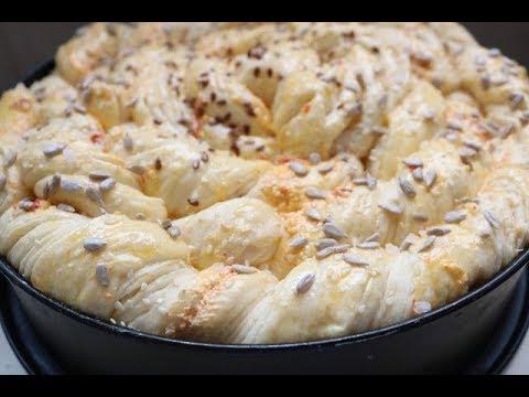 Bakina kuhinja - penasta trakasta pogača (foamy pita bread)
