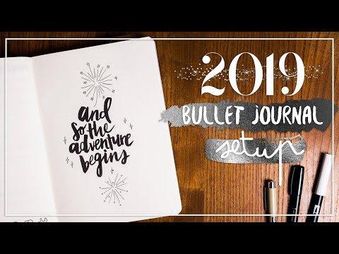 BULLET JOURNAL SETUP 2019   Ziele setzen & Dashboard DIY