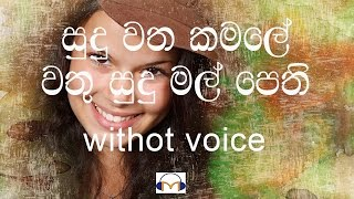 Sudu Watha Kamale Karaoke (without voice) සුදු වත කමලේ
