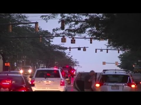 Traffic lights out in downtown Cleveland