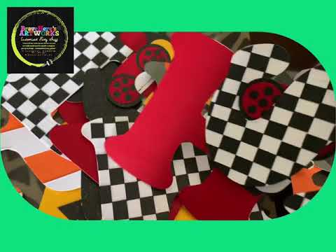 Cars Party - Letter Banner Party Theme Disney Cars