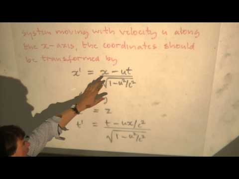 Electromagnetism & Optics: Lecture 34 - Electromagnetic Field Tensor