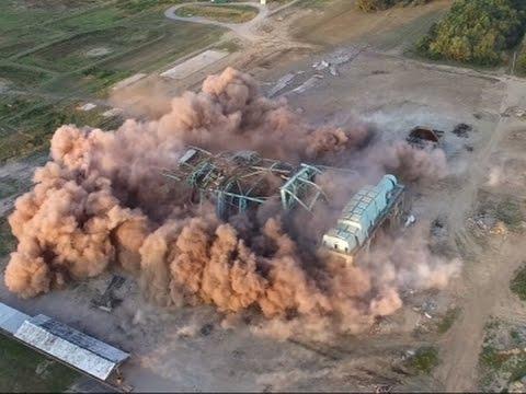 Raw: Implosion Brings Down Arkansas Power Plant