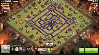 3 Starring an Anti-2 star TH9 base 4 Corners with GoWiWi & Queen Charge - clash of clans, clan wars