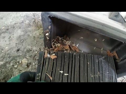 Слабо греет(дует) печка Мазда 626 ge. Замена салонного фильтра.
