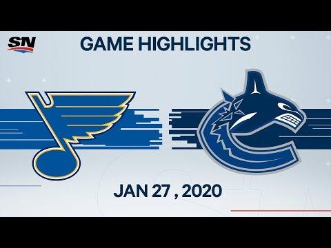 NHL Highlights | Blues Vs. Canucks – Jan. 27, 2020