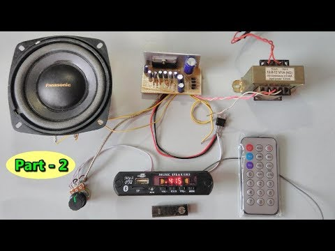 Bluetooth, SD card, AUX, FM radio mp3 player module with amplifier assembling( part- 2)