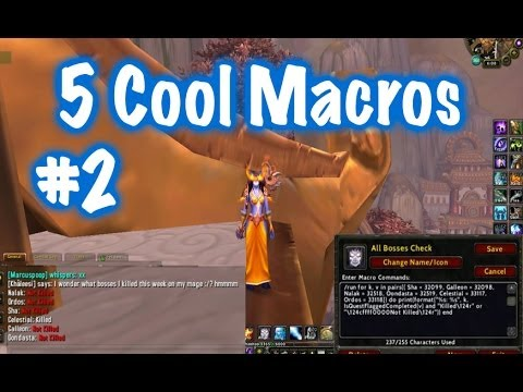 Five Awesome General Macros #2 (World Of Warcraft) - YT
