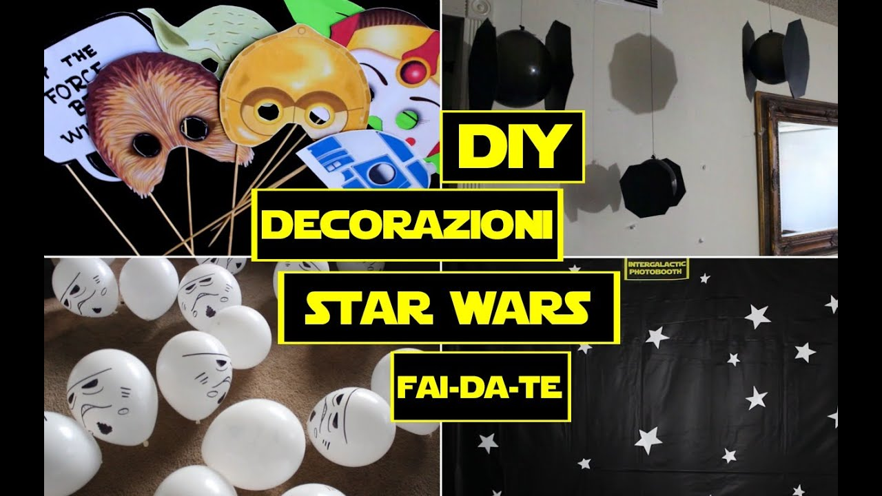 Decorazioni fai da te per feste a tema star wars youtube for Coprifornelli fai da te