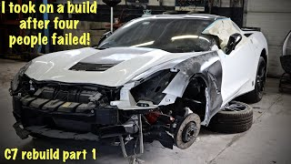 Taking on a C7 rebuild after others have failed  Part 1 of the basketcase Vette