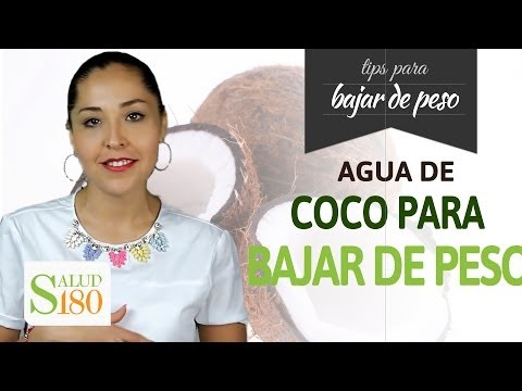 Baja de peso tomando agua de coco | Salud180