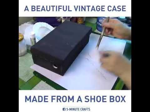 DYS Vintage case made from a shoe box