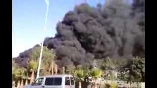 حريق مهول صباح اليوم بأحد المستودعات بتكوين اكادير