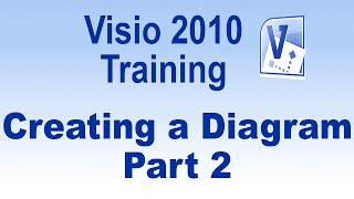Microsoft Visio 2010 Training Tutorial -- Creating a Diagram - Part 2