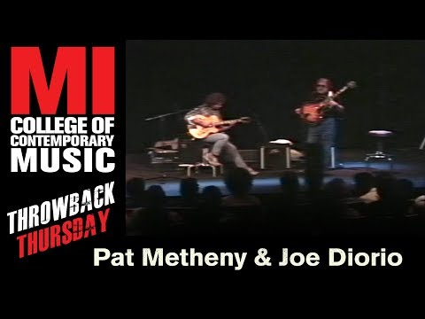 Pat Metheny & Joe Diorio Throwback Thursday From the MI Library