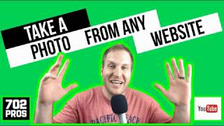 How to Take a Photo from a Website TUTORIAL aka Copy an Image from a Website