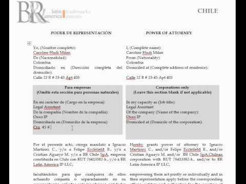POWER OF ATTORNEY IN CHILE