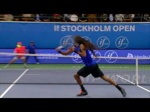 If Stockholm Open Another great trick shot by Dustin Brown