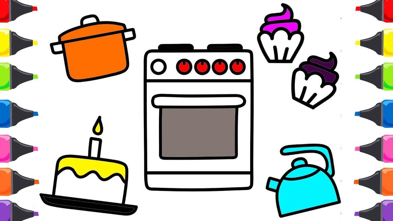 Mutfak Seti Fırın Cup Kek Boyama Renkleri öğreniyorum Türkçe çocuk