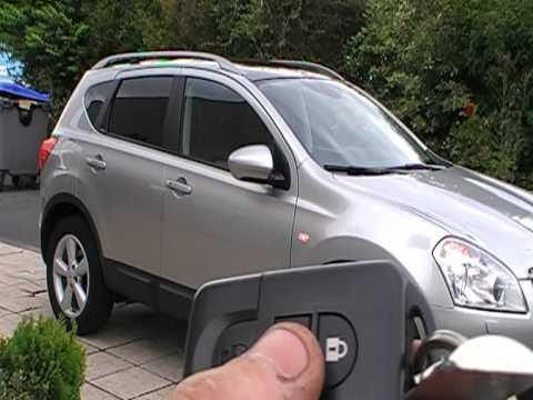 Auto power folding mirror Nissan Qashqai - YouTube