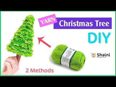 How to make Yarn Christmas Tree (2 Methods) | Crafts for Christmas | Yarn Craft Ideas