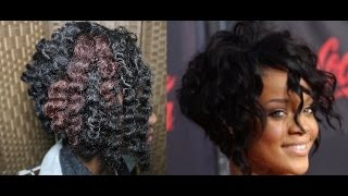 Rihanna Inspired Angled Cut Bob On Crochet Braids