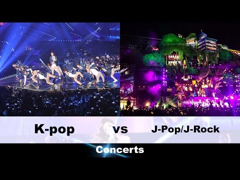 Kpop vs Jpop/Jrock Concerts