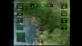Nuclear Strike PS1 Intro & Game Play