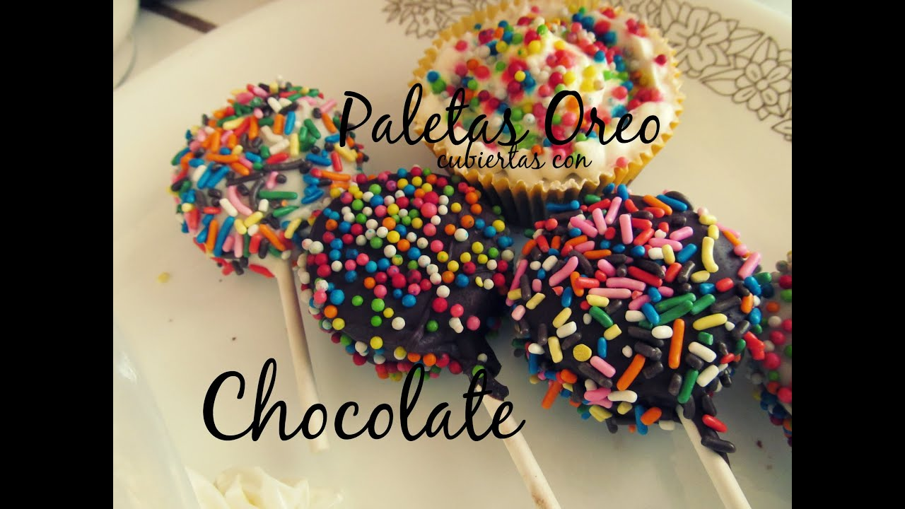 Paletas oreo cubiertas de chocolate youtube for Paletas de cocina decoradas