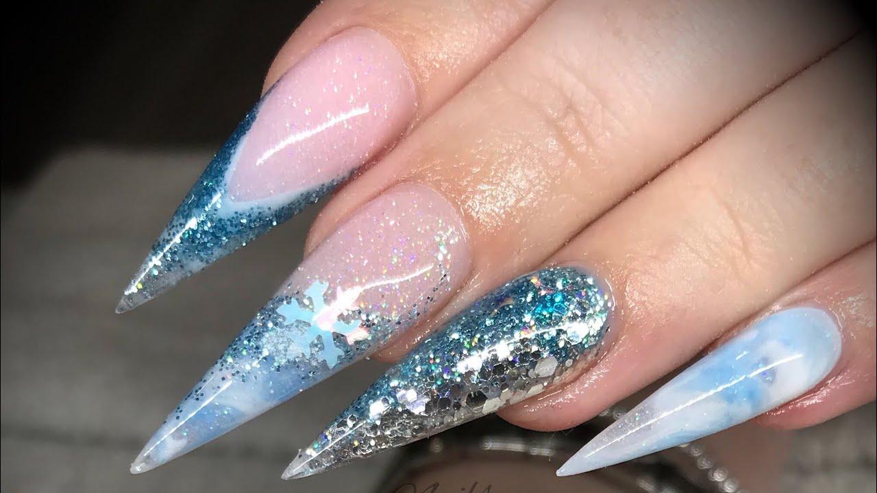 acrylic nails - extreme length