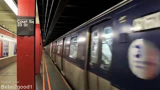"NYC Subway: (E) Train with R160 ""Cuomo Scheme"" at Court Square"