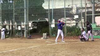 2014年12月7日(日)@野田球場 ドージーズ2回表の攻撃を動画でレポート!