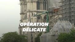 Notre-Dame de Paris: démontage de l'échafaudage de la flèche