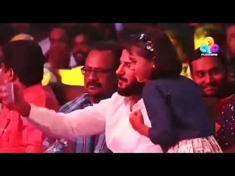 Uppum mulakum Shivani taking selfie with dulquer Salman